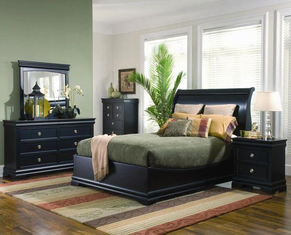 Dormitorio ducan con muebles color negro